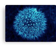 Dandelion Ink Blue Canvas Print