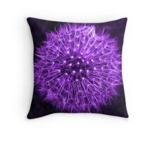 Dandelion Lavender Throw Pillow
