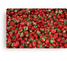 Ripe Strawberries Canvas Print