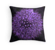 Dandelion Purple Throw Pillow