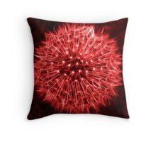 Dandelion Red Throw Pillow