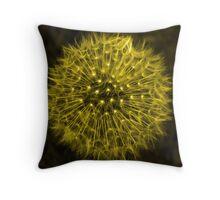 Dandelion Yellow Throw Pillow