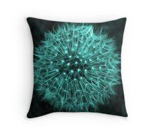Dandelion Aqua Throw Pillow