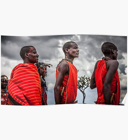 Masai People Poster