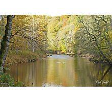 River Wharfe at Autumn Photographic Print