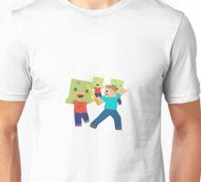 Minecraft Zombie and Steve / Blockhead Unisex T-Shirt