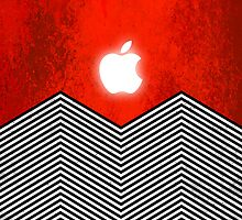 twin Peaks iPhone case by Thomas Jarry