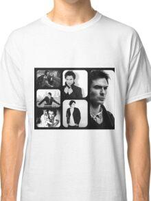Ian Somerhalder in Black and White Classic T-Shirt
