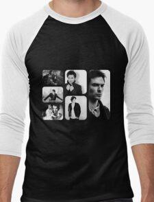 Ian Somerhalder in Black and White Men's Baseball ¾ T-Shirt