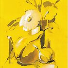 Yellow still life by Mara Irbe