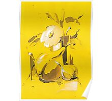Yellow still life Poster