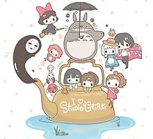 Studio Ghibli Love by Optimistic  Sammich