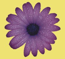 Purple African Daisy with Raindrops Kids Clothes