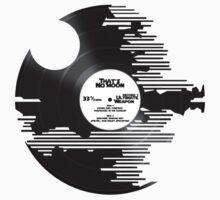 Star Wars - Death Star Record w/ text by Braden  Stevenson