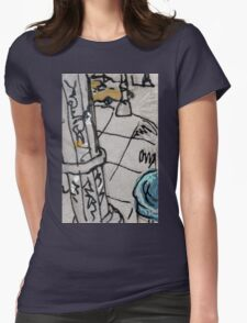 street sign post Womens Fitted T-Shirt