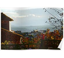 Autumn views over town  Poster