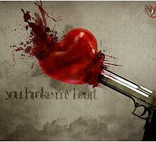 You broke my heart by xhemo17