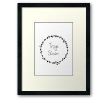 Troye Sivan Flower Crown Framed Print