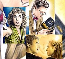 Dr Who sketchcards by wu-wei