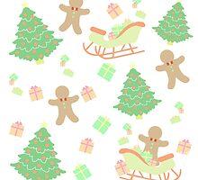 Sleighing with Gingerbread Man #1 by simplepaperplan