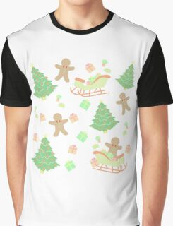 Sleighing with Gingerbread Man #1 Graphic T-Shirt