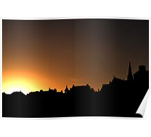 Whitby Silhouette  Poster