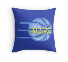 PACERS hand-drawing Throw Pillow
