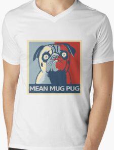 """MEAN MUG PUG - Ozzy, """"Hope"""" Mens V-Neck T-Shirt"""