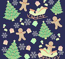 Sleighing with Gingerbread Man #2 by simplepaperplan