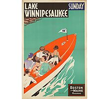 Vintage poster - Lake Winnipesaukee Photographic Print
