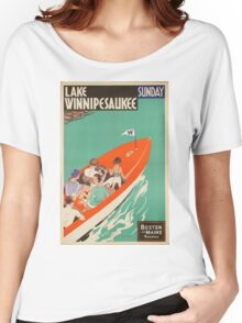 Vintage poster - Lake Winnipesaukee Women's Relaxed Fit T-Shirt