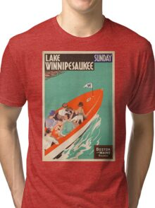 Vintage poster - Lake Winnipesaukee Tri-blend T-Shirt