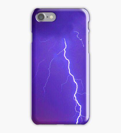 Lightning In A Blue Sky iPhone Case/Skin
