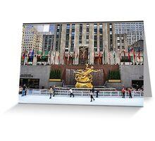 Skating at the Rockefeller Plaza Greeting Card