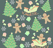 Sleighing with Gingerbread Man #3 by simplepaperplan