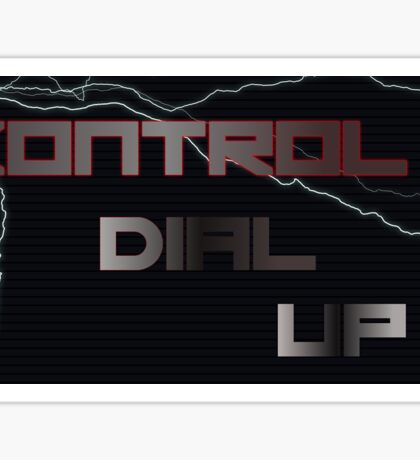 Kontrolled Dial Up Sticker