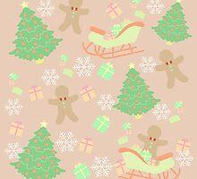 Sleighing with Gingerbread Man #5 by simplepaperplan