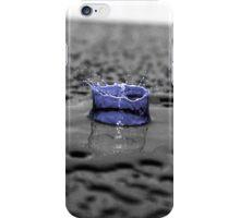 Blue Water Drop On Black Background iPhone Case/Skin