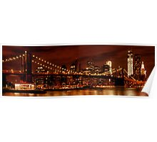 Night-Skyline NEW YORK CITY Poster