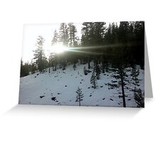 Busting Sun rays Greeting Card