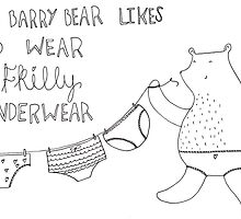 barry likes to wear frilly underwear! by helzillustrates