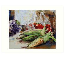 Western Style Cooking Art Print