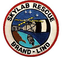 Skylab Rescue Mission Logo Photographic Print