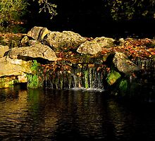 Waterfall, Chantilly Castle | Chantilly, France by rubbish-art