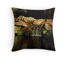 Waterfall, Chantilly Castle | Chantilly, France Throw Pillow