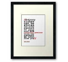 Infinitely Precious Framed Print