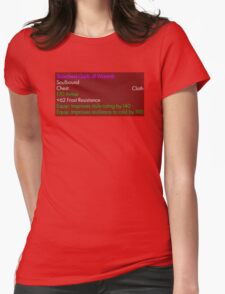 Scorched Garb of Warmth Womens Fitted T-Shirt