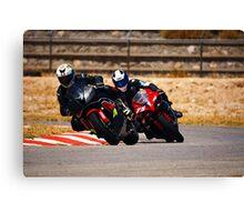 Superbike race Canvas Print