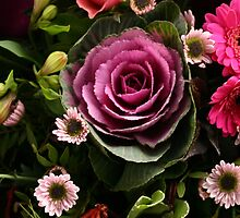 Pink Cabbage Bouquet by Bobbie Sansom