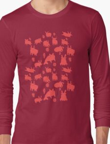 Weebeasts (red) Long Sleeve T-Shirt